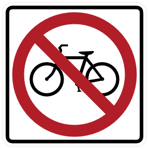 No Bicycles Sticker