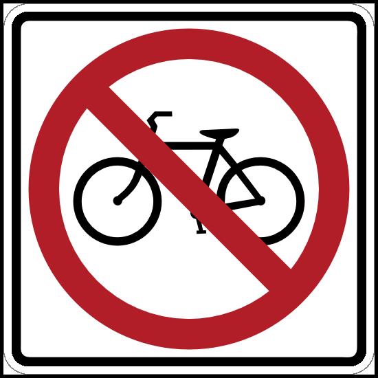 No Bicycles Sticker