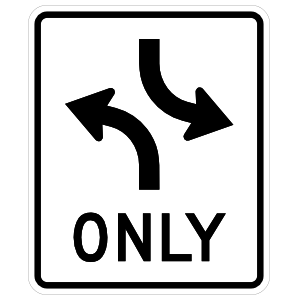 Left Turns Only Sticker