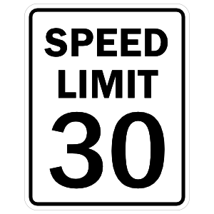 Speed Limit 30 Magnet