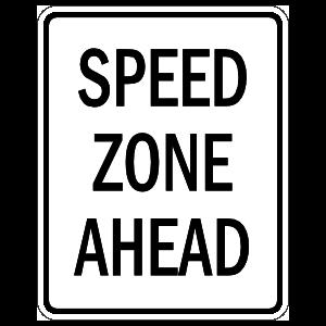 Speed Zone Ahead Sticker