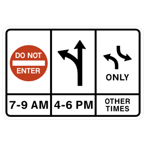 Don't Enter, Left And Straight, Left Only Other Times Magnet