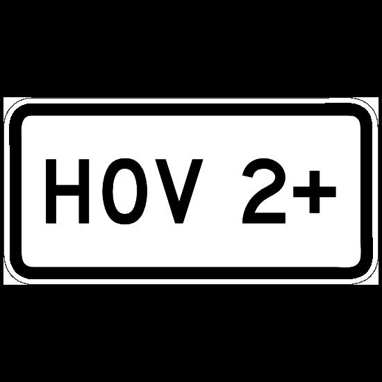 High Occupancy Vehicle Sticker