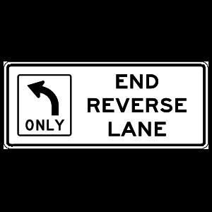 End Reverse Lane Left Only Magnet