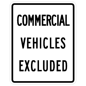 Commercial Vehicles Excluded Sticker