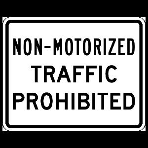 Non-Motorized Traffic Prohibited Magnet