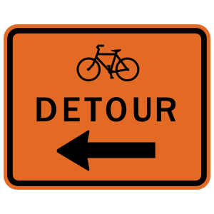Bicycle Detour Sticker