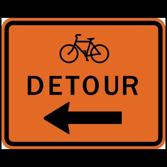 Bicycle Detour Sticker