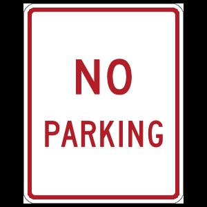 Red No Parking Magnet