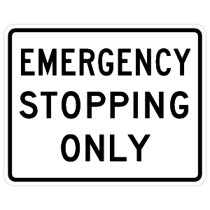 Emergency Stopping Only Magnet