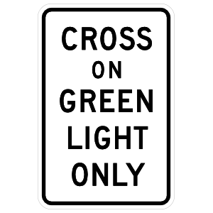 Cross On Green Light Only Magnet