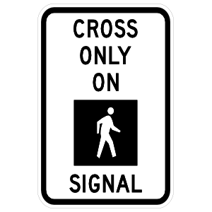 Cross Only On Signal Sticker