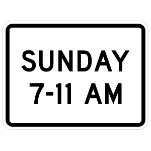 Sunday 7-11 Am Sticker