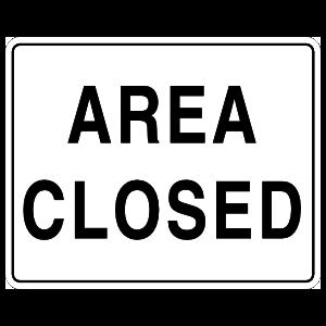 Area Closed Sticker