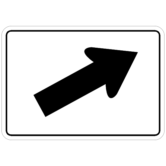 Right Diagonal Arrow Sticker