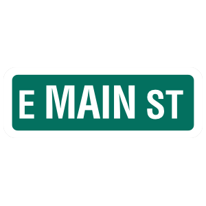 E Main ST Sticker