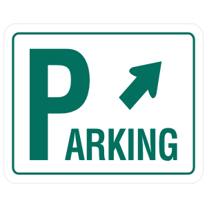Parking Diagonally Right Sticker