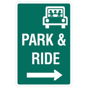 Park And Ride To The Right Sticker
