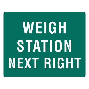 Weigh Station Next Right Magnet