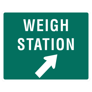 Weigh Station Diagonally Right Sticker