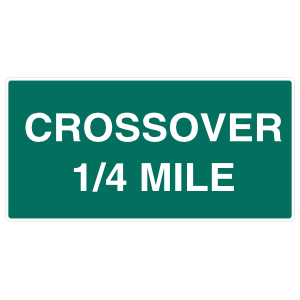 Crossover 1/4 Mile Sticker