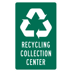 Recycling Collection Center Sticker