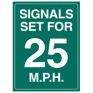 Signals Set For 25MPH Sticker