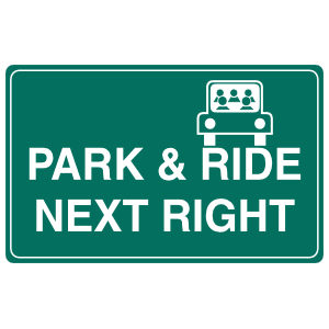 Park And Ride Next Right Sticker