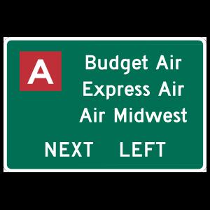 Air Lines Next Left Magnet