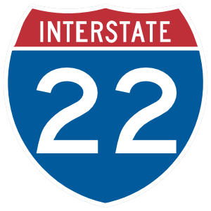 Interstate 22 Magnet
