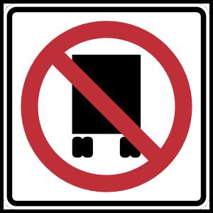 No Truck Access Sticker