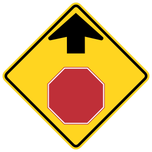 Stop Sign Ahead Sticker