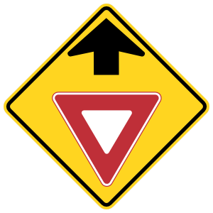 Yield Sign Ahead Sticker