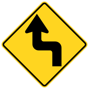 Left Then Right Turn Sticker