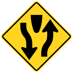 Traffic Exits Around Object Sticker
