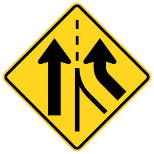 Two Lanes Merging Together Sticker