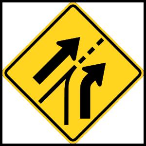 Merge Left Into Traffic Magnet