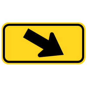 Down Right Arrow Sticker