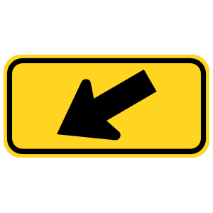 Down Left Arrow Sticker