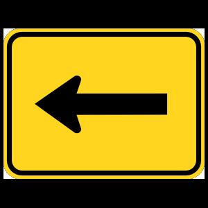 Left Arrow Warning Sticker