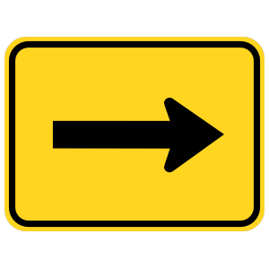 Right Arrow Warning Sticker