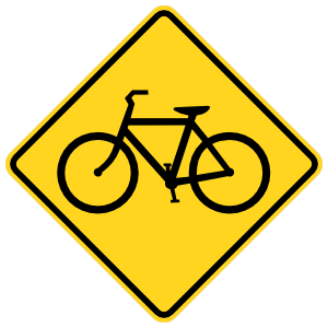 Warning Bicycles Sticker