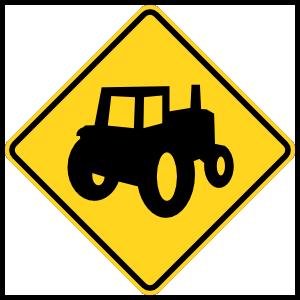 Warning Tractors Magnet