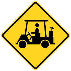 Watch Out For People With Golf Carts Sticker