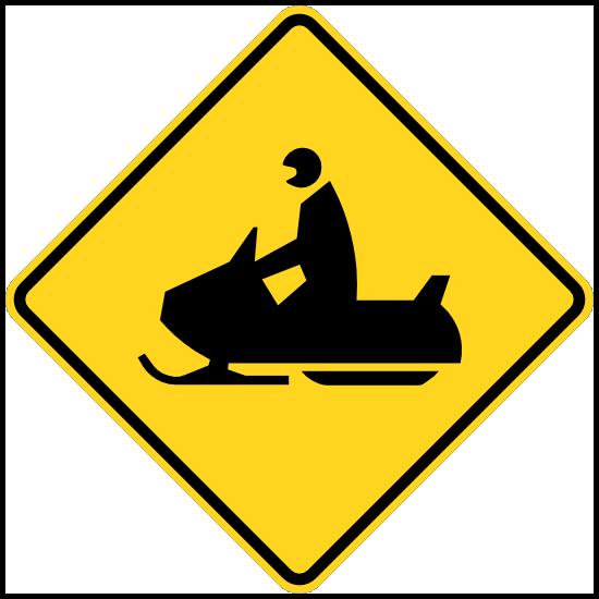 Warning Snowmobiles Sticker