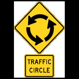Warning Traffic Circle Magnet