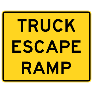 Truck Escape Ramp Magnet