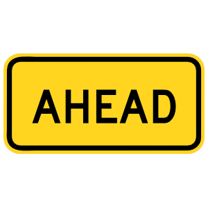 Warning Ahead Sticker