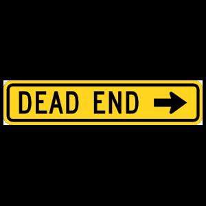 Dead End That Way Sticker