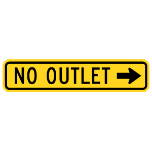 No Outlet That Way Sticker
